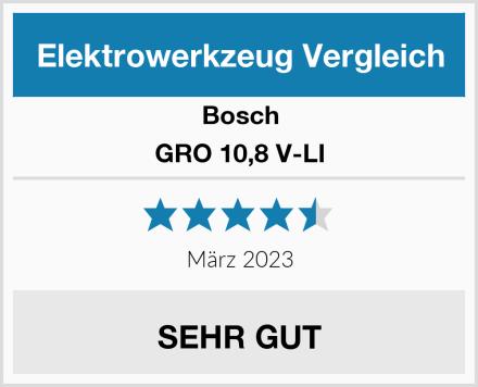 Bosch GRO 10,8 V-LI Test