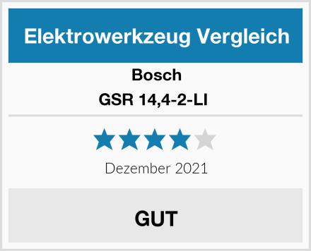 Bosch GSR 14,4-2-LI  Test