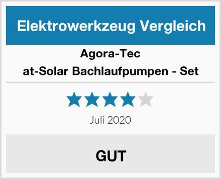 Agora-Tec at-Solar Bachlaufpumpen - Set Test