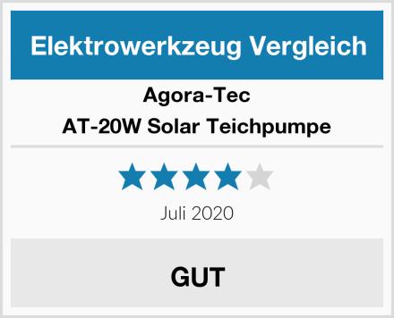 Agora-Tec AT-20W Solar Teichpumpe Test