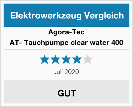Agora-Tec AT- Tauchpumpe clear water 400 Test
