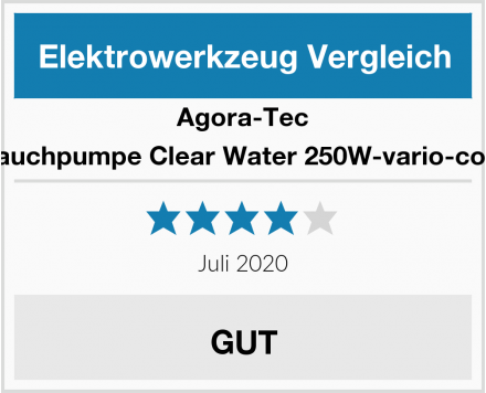 Agora-Tec at-Tauchpumpe Clear Water 250W-vario-control Test