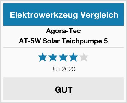 Agora-Tec AT-5W Solar Teichpumpe 5 Test