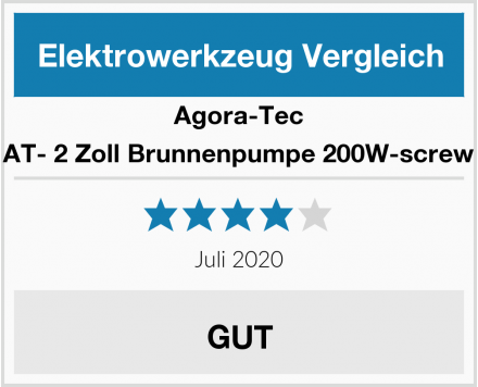 Agora-Tec AT- 2 Zoll Brunnenpumpe 200W-screw Test