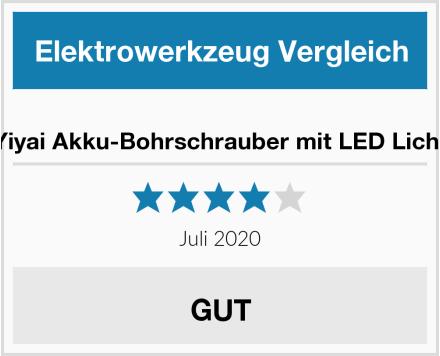 Yiyai Akku-Bohrschrauber mit LED Licht Test