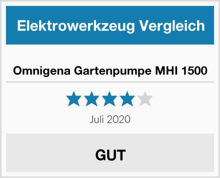Omnigena Gartenpumpe MHI 1500 Test