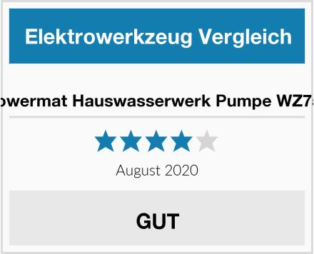 Powermat Hauswasserwerk Pumpe WZ750 Test
