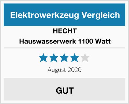 Hecht Hauswasserwerk 1100 Watt Test