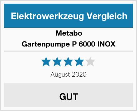 Metabo Gartenpumpe P 6000 INOX Test