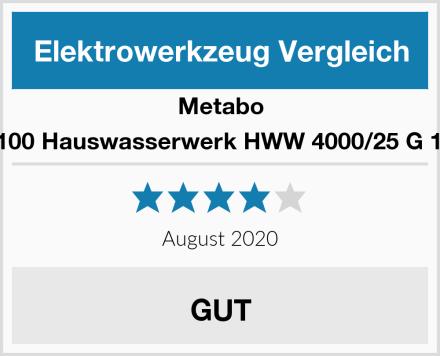 Metabo 60097100 Hauswasserwerk HWW 4000/25 G 1100 W Test