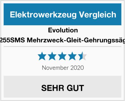 Evolution F255SMS Mehrzweck-Gleit-Gehrungssäge Test