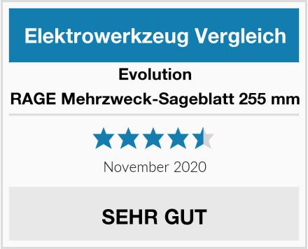 Evolution RAGE Mehrzweck-Sageblatt 255 mm Test