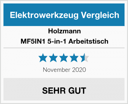 Holzmann MF5IN1 5-in-1 Arbeitstisch Test