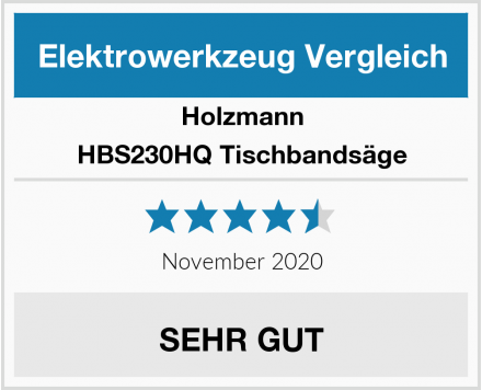 Holzmann HBS230HQ Tischbandsäge Test