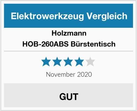 Holzmann HOB-260ABS Bürstentisch Test