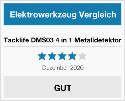 Tacklife DMS03 4 in 1 Metalldetektor Test