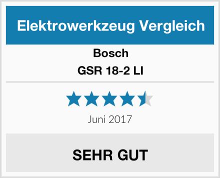 Bosch GSR 18-2 LI Test