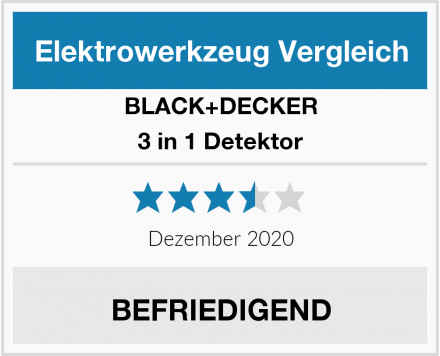 Black & Decker 3 in 1 Detektor Test