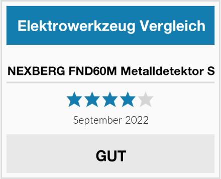 NEXBERG FND60M Metalldetektor S Test