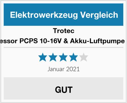 Trotec Akku-Kompressor PCPS 10-16V & Akku-Luftpumpe PCPS 11-16V Test