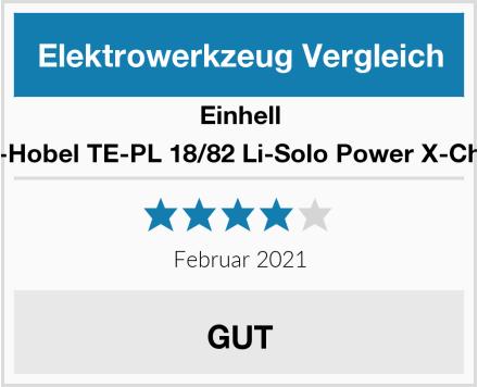 Einhell Akku-Hobel TE-PL 18/82 Li-Solo Power X-Change Test