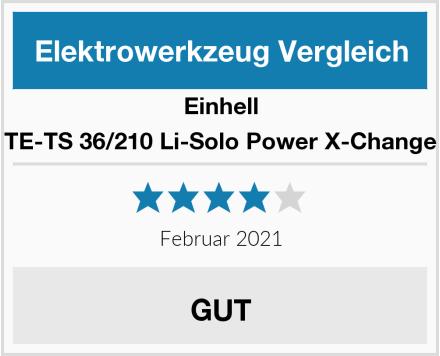 Einhell TE-TS 36/210 Li-Solo Power X-Change Test