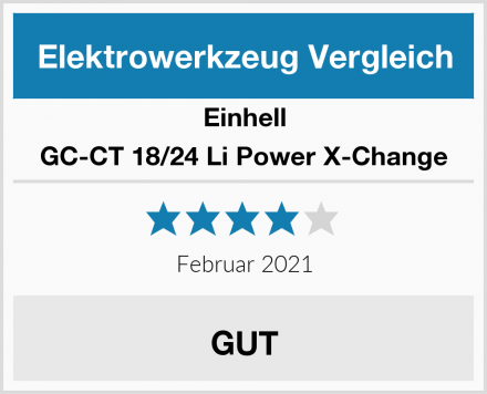Einhell GC-CT 18/24 Li Power X-Change Test
