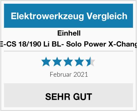 Einhell TE-CS 18/190 Li BL- Solo Power X-Change Test