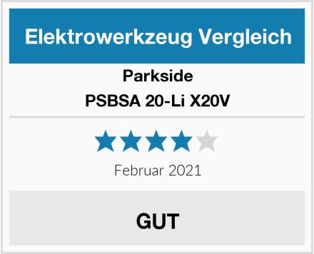 Parkside PSBSA 20-Li X20V Test