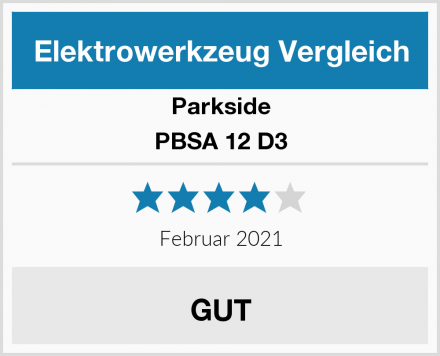 Parkside PBSA 12 D3 Test