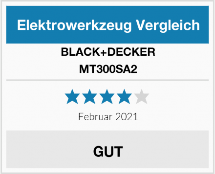 BLACK+DECKER MT300SA2 Test