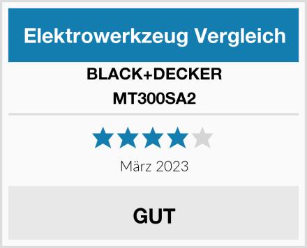 BLACK+DECKER MT300SA2 Test