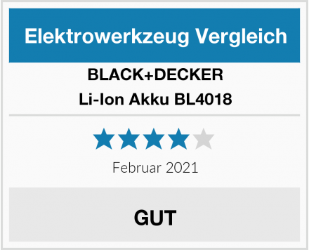 BLACK+DECKER Li-Ion Akku BL4018 Test