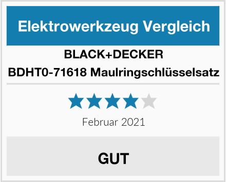 BLACK+DECKER BDHT0-71618 Maulringschlüsselsatz Test