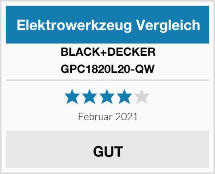 BLACK+DECKER GPC1820L20-QW Test