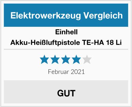 Einhell Akku-Heißluftpistole TE-HA 18 Li Test