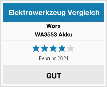 Worx WA3553 Akku Test