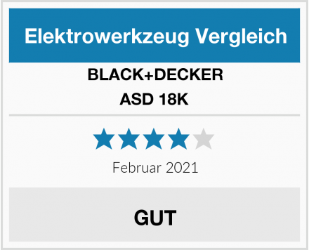 Black & Decker ASD 18K Test
