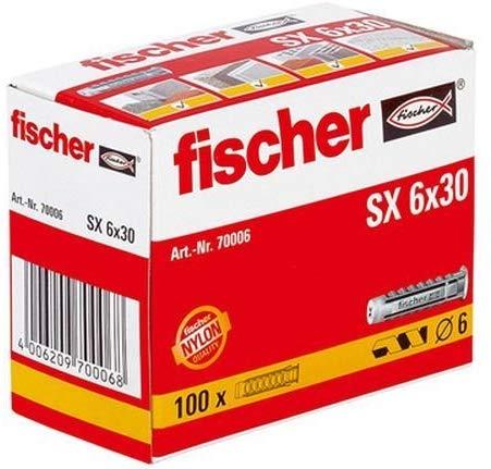 Fischer Nylon-Dübel SX6 - 100 Stück